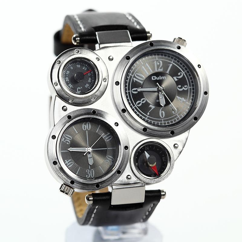 Мужские наручные часы OULM 9415 black | Горячая
